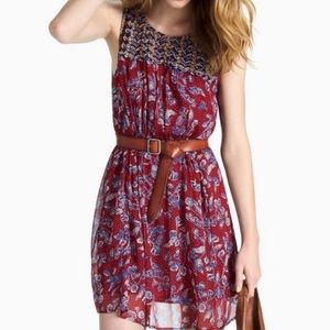 Lucky Brand Red Mixed Printed Dress